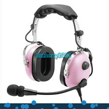 New Pink Pilot Headset PNR (Passive Noise Reduction) Aviation Headset IN-1000
