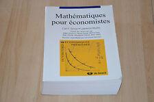 livre Mathématiques pour économistes / Carl Simon et Lawrence Blurne - De Boeck