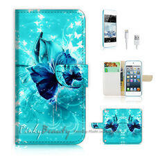 ( For iPod 5 / itouch 5 ) Flip Case Cover! P1054 Butterfly