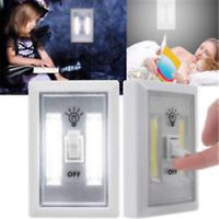 5 PACK Wireless COB LED Wall Switch Closet Cordless Night Light Battery Operated