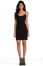 Enza Costa Nero Slip Tank Dress Piccoli