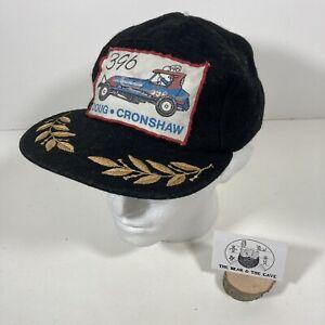 Rare Vintage DOUG CRONSHAW 396 HERITAGE Brisca Stock Car Racing Hat Cap Black