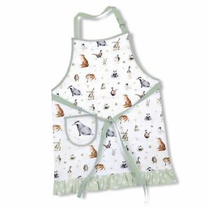 Royal Worcester Wrendale Designs Cotton Apron - White (Animal Design)