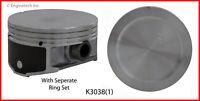 Enginetech K3038(1)STD SINGLE PISTON AND RING KIT For GM BUICK 3.8L 231 VIN K