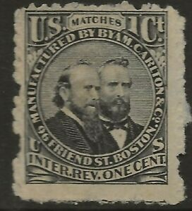 RO 49a-BYAM AND CARLTON 1 CENT  MATCH AND MEDICINE STAMP--72