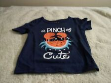 CAT & JACK BABY GIRL WATERMELON & CRAB PAJAMA TOP SIZE 12 M