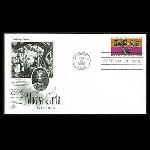 HuskyStamps ~ United States #1265, FDC, Art Craft Cachet, Magna Carta, 5 pics