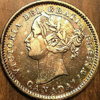 1896 CANADA SILVER 10 CENTS - Obv#6 variety - Excellent example!