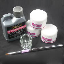 120ml Professional Nail Art Kit 120ml Acrylic Liquid+ 3 Color Powder +Pen set
