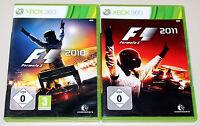 2 XBOX 360 SPIELE BUNDLE - F1 2010 & F1 2011 - FORMULA ONE RACING FORMEL EINS
