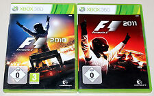 2 XBOX 360 SPIELE BUNDLE - F1 2010 & F1 2011 - FORMULA ONE RACING FORMEL EINS