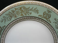 "Wedgwood Gold Columbia Sage Green Gold Trim 6"" Bread Plate"