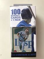 MIKE TROUT ON FRONT Fairfield 100 Card + 1 Pack Inside Box. SEALED.