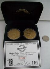 HIGHLAND MINT BRONZE MEDALLION FRANK THOMAS & ALBERT BELLE 2 COIN SET COA /25000