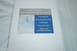 King Size Fully Fitted Terry Waterproof Mattress Covers  Cotton Topped