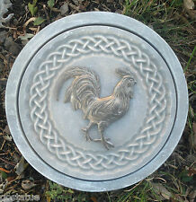 """Rooster celtic stepping stone mold 12"""" x 1.5"""" thick reusable plaster concrete"""