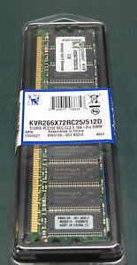Kingston KVR266X72RC/512 (512 MB, DDR RAM, 266 MHz, DIMM 184-pin)