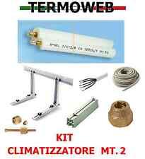 KIT  ISTALLAZIONE FAI DA TE CLIMATIZZATORE CONDIZIONATORE TUBO RAME 1/4+3/8 MT.2