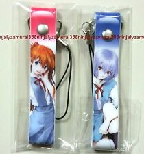 Evangelion Rei Asuka strap set promo school uniform anime girl official