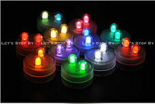 70 RGB SUPER Bright Dual LED Tea Light Submersible Floralyte Party Wedding