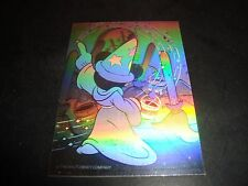Mickey Mouse Walt Disney Sorcerer Fantasia Double Sided Hologram Insert Card Nm