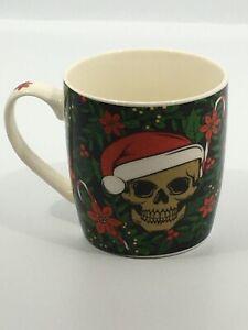 Skull Christmas Mug~Bone China Gothic Cup~FREE P&P