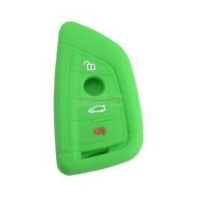 Fit BMW X1 X3 X5 4 Buttons Remote Smart Key Fob Silicone Skin Case Cover Green