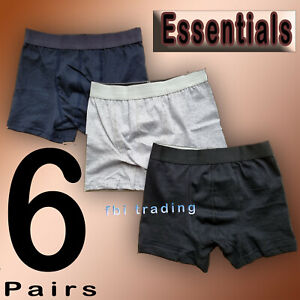 6  Mens  Hipster Trunks Boxer Shorts Underwear Underpants  Boxers Size S-XL