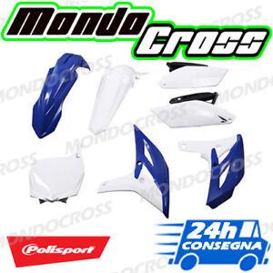 Kit plastiche cross mx POLISPORT Blu Bianco YAMAHA YZ F YZF 250 2013 (13)!