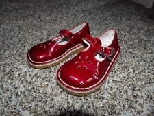 ASTER 21 DEEP RED SHOES US 5 GIRLS PATENT Mary Janes