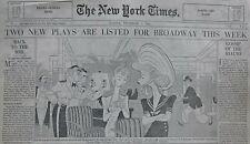 AL HIRSCHFELD - ADMIRAL HAD A WIFE PLAYHOUSE BALLANTINE HALE December 7, 1941