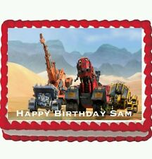 Dinotrux Birthday Party Edible Cake Topper Icing  1/4 frosting sheet