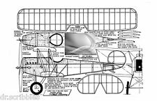 Model Airplane Full Size Printed Plan Peanut Scale  AVRO 534C & Notes