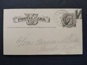 RPO: Pitts & Bridgp't 1880 Postal Card, Backwards N Cancel, Connecticut Railroad