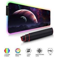 Universum RGB LED Beleuchtung Gaming Matte Spiele Mouse Pad Mauspad