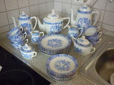 Kaffee - und Teeservice  Serie : Chinablau  von Erbendorf Bavaria  25 teilig