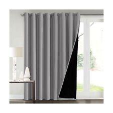 100% Blackout Curtains for Living Room Extra Wide Blackout Curtains for Patio...