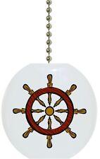 Helm Nautical Solid Ceramic Ceiling Fan Light Lamp Pull