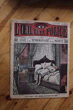 Rarissime L' OEIL DE LA POLICE 1A/50 Aff. Steinheil Le Temoignage de la Morte