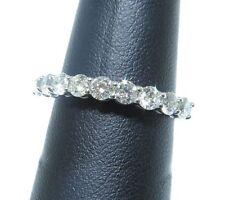 Ladies 14k White Gold 1.00ct in White Diamonds Eternity Style Ring