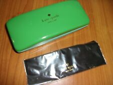 Kate Spade Green Glasses Case With Cloth