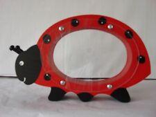 Ladybug Bank  - red -  wooden