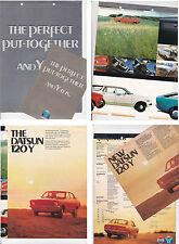 Two 1974-75 DATSUN 120Y Australian Brochures B210 SUNNY Fair Condition
