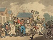 THOMAS ROWLANDSON BRITISH SQUALL HYDE PARK OLD ART PAINTING POSTER BB6449A