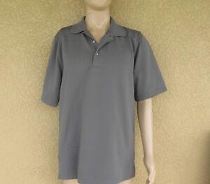 Grand Slam Performance Polo Shirt  Size LT  Gray
