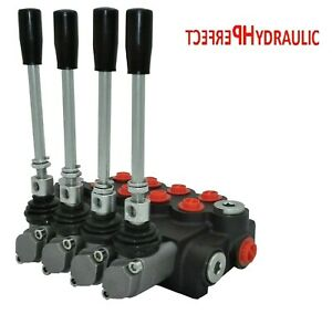 4 Spool Hydraulic Directional Control Valve 11gpm 40L Double Acting Cylinder DA