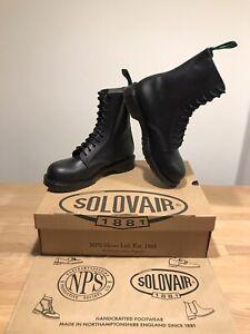 NPS SOLOVAIR Black 11 Eye Steel Toe Derby Boot! Size UK11! New! Only