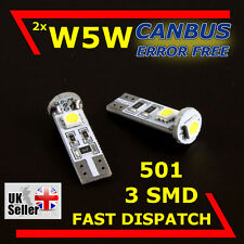 W5W T10 501 3SMD LED SIDELIGHT INTERIOR CANBUS BULBS RENAULT TRAFIC II Bus