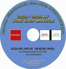 2003-2005 Isuzu NPR NPR HD GMC Chevy W3500 W4500 Truck w/6.0L Gas Repair Manual