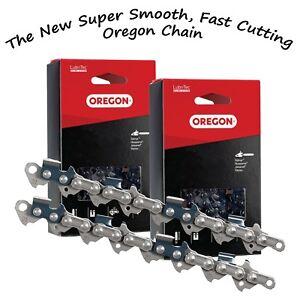 "2 x Hyundai 20"" P6220C 62cc Chainsaw Saw Chain Pro Quality by Oregon"